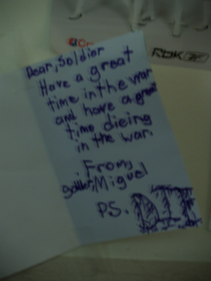 Insult to Injury - hate letter written to PFC Joshua Sparling ...